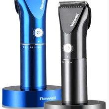 Профессиональная машинка для стрижки волос перезаряжаемый триммер литиевая батарея титановый сплав лезвие резак Регулируемая расческа тонкая Настройка 100-240 В