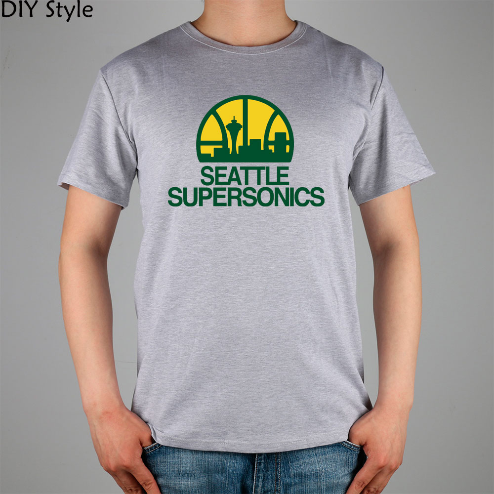 Seattle Supersonics T-shirt cotton Lycra top Fashion Brand t shirt men new high quality image