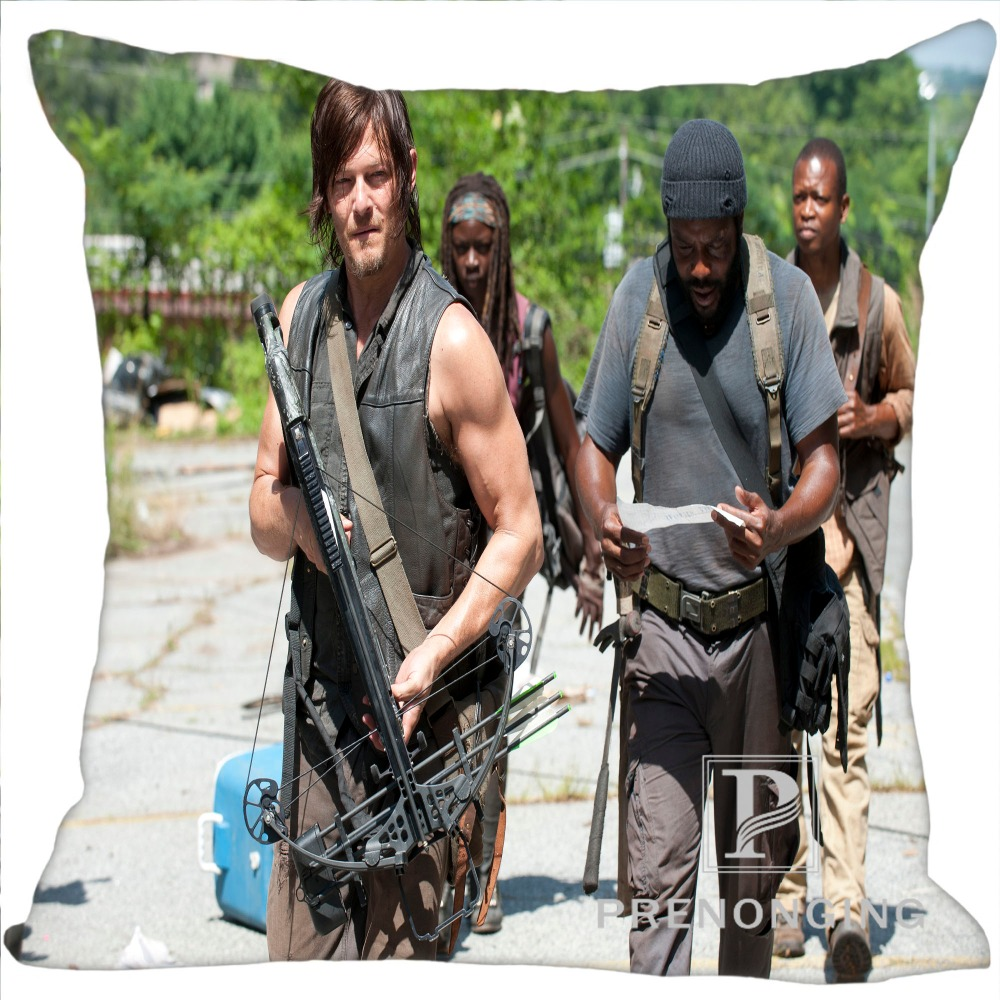 Custom Pillowcase The Walking Dead Daryl Dixo Square Zipper Pillow Cover Print Your Pictures (one Side) 180117#80