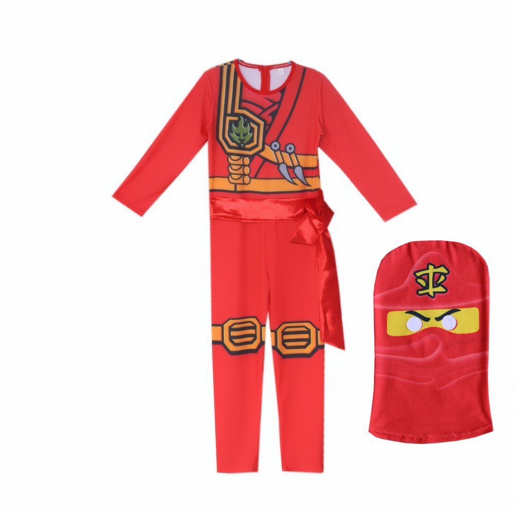 LEGO NINJAGO Advanced Latest Role Playing Costume Boys and Girls Jumpsuit Set Halloween Christmas Party Ninja Superhero 3