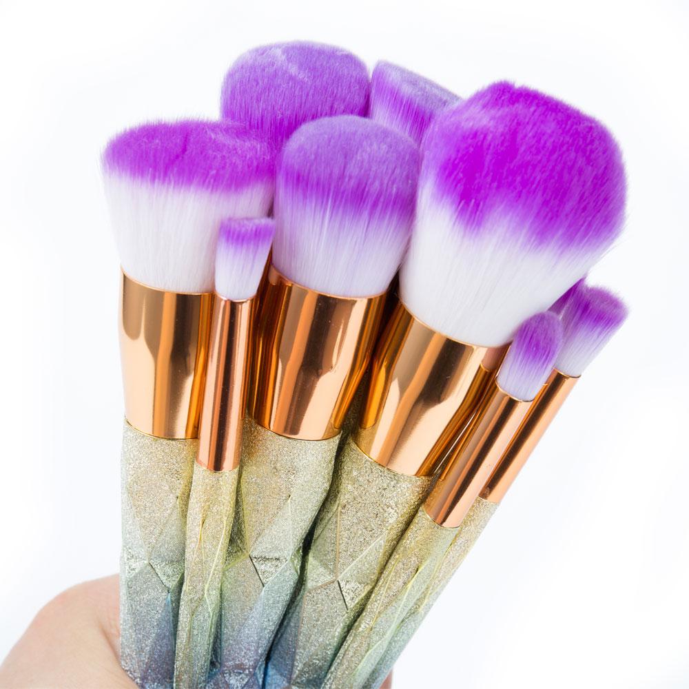 Elailite-10pcs-Pro-Unicorn-Face-Eyeliner-Brush-Cosmetic-Make-Up-Flat-Brushes-Sets-Kit