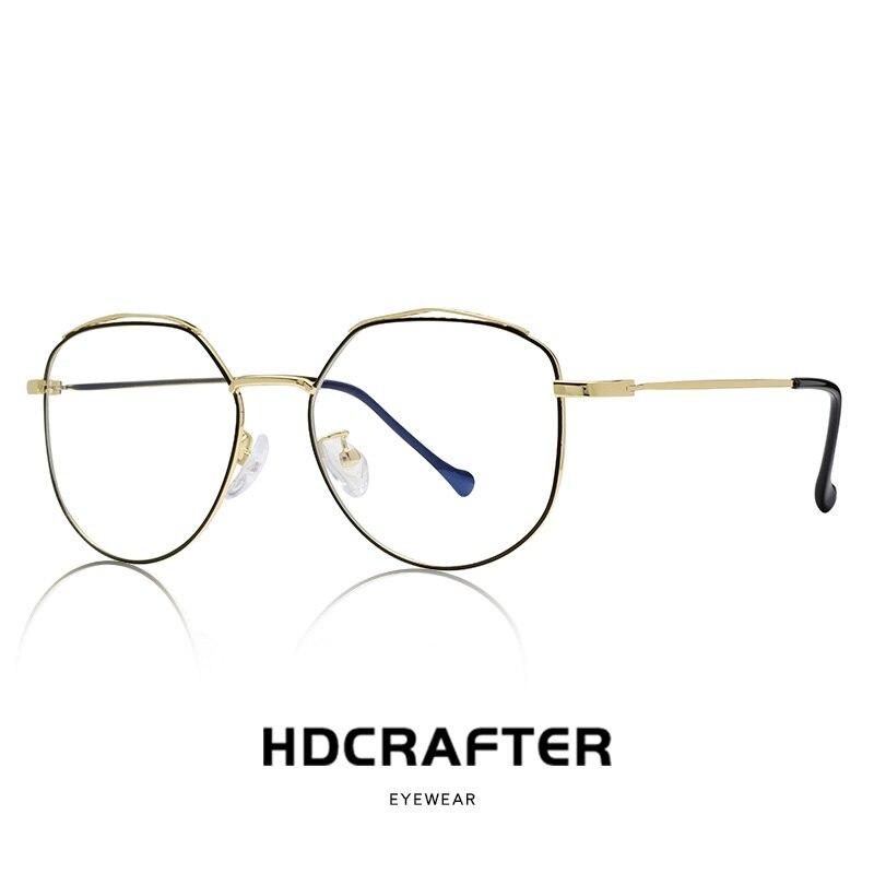 Round Glasses Frame Woman Men Glasses Retro Myopia Optical Frames Metal Clear lens Black Silver Gold Eyeglasses Oculos De Grau
