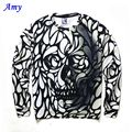 2016 New Hot 3D Sweatshirts Men Long Sleeve Thin Hoodies Good Casual Sweatshirt skull Digital Printing Size S-XXL