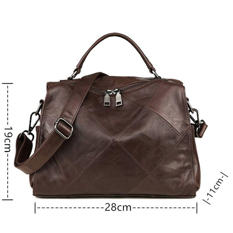 Big size top qualität Leder Männer Tasche Casual Retro Echtes Leder Reisetasche Mode Trend Handtasche Schulter Umhängetasche A4261 - 6