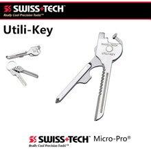 SWISS TECH ใหม่ EDC 6 in 1 สแตนเลส Utili - Key Chain Cutter ไขควงเครื่องมือชุด Survival Kit