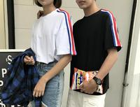 Harajuku Half Sleeves T-shirt For Women And Men New Arrival Summer Loose T-shirt For Couples Korean Style Stylish Class Uniform