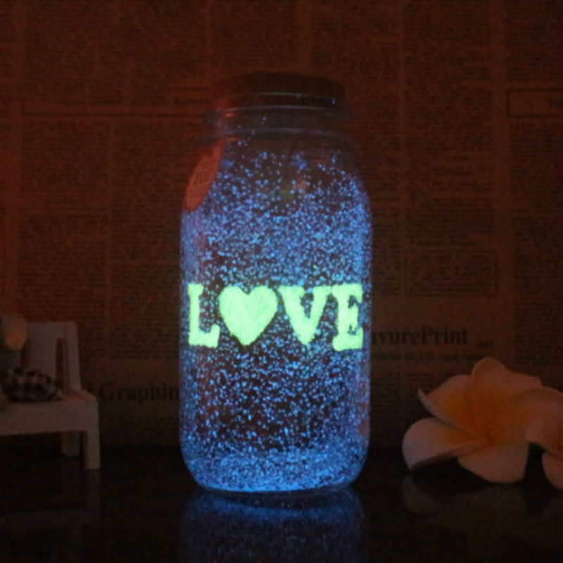 1 Bag 10g Glow In The Dark Fluorescence Sand Party Bright Paint DIY Star Wishing Bottle Particle Luminous Toys For Children Gift