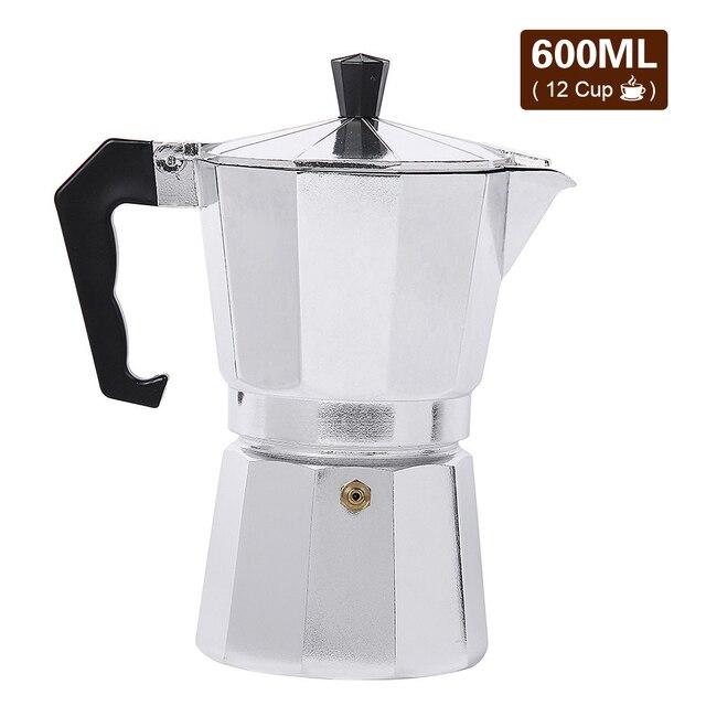 50/150/300/450/600ML alüminyum Percolator kahve makinesi Pot açık sofra ev ofis üreticisi açık sofra