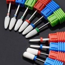 Jewhiteny 10 тип керамический сверло для ногтей фрезерный станок для электрического маникюра сверлильный станок аксессуар пилка для ногтей инструмент для дизайна ногтей