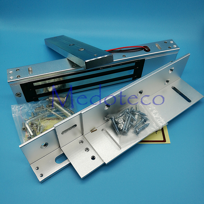 High Quality Electric Magnetic Door Lock Holding Force 280KG 600lbs 12V Electric Lock ZL Bracket Wooden
