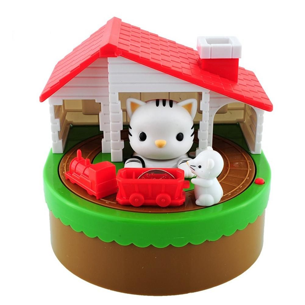 Cat&Rat Innovative Electric Music Money Box Piggy Bank Random Pattern Delivery