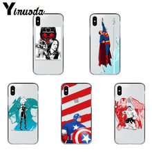Yinuoda Marvel Superhero DC Superman TPU Macio Tampa Da Caixa de Telefone para o iphone X XS XR XSMax 6 7 6S 7plus 8 8 Mais Xs 5 5S 5c SE(China)