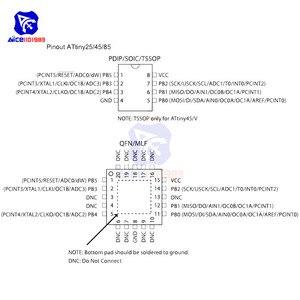 Image 5 - Puce IC diymore ATTINY85 20PU ATTINY85 MCU 8BIT atminuscule 20MHZ 8 broches DIP 8 ATTINY85 puces IC de microcontrôleur