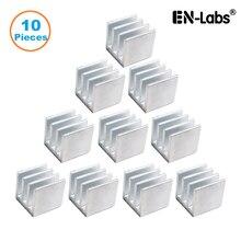 En-Labs 10 шт. серебристый 10x10x10 мм алюминиевый радиатор радиатора, электронный чип охлаждения радиатора кулер для IC MOSFET SCR