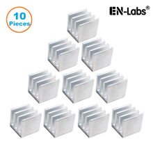 En-Labs 10pcs Silver 10x10x10mm Aluminum Heat Sink Radiator Heatsink,Electronic Chip Cooling Radiator Cooler for IC MOSFET SCR jtron aluminum heat sink electronic radiator cooling aluminum block silver 100 x 45 x 10mm