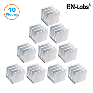 En-Labs 10pcs Silver 10x10x10mm Aluminum Heat Sink Radiator Heatsink,Electronic Chip Cooling Radiator Cooler for IC MOSFET SCR(China)