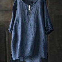 Lose Frauen Top Casual Tops Shirt T 3/4 ärmeln Crew neck Sommer Tunika Batsleeve Tanktops Damen Stilvolle Neue(China)