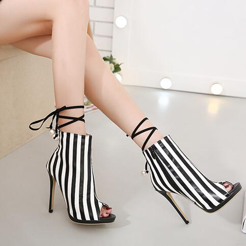 стоимость  women summer boots women party shoes platform pumps wedding shoes stiletto heels peep toe high heels shoes lace up sandals D1255  в интернет-магазинах