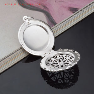 Image 4 - sublimation locket new round necklaces pendants blank thermal transfer printing women  necklace pendant consumables 15pcs/lot