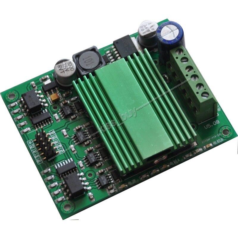 все цены на  Free Tracking 100A DC motor drive Module High Power motor speed Control Dual Channel H-bridge optocoupler isolation  онлайн