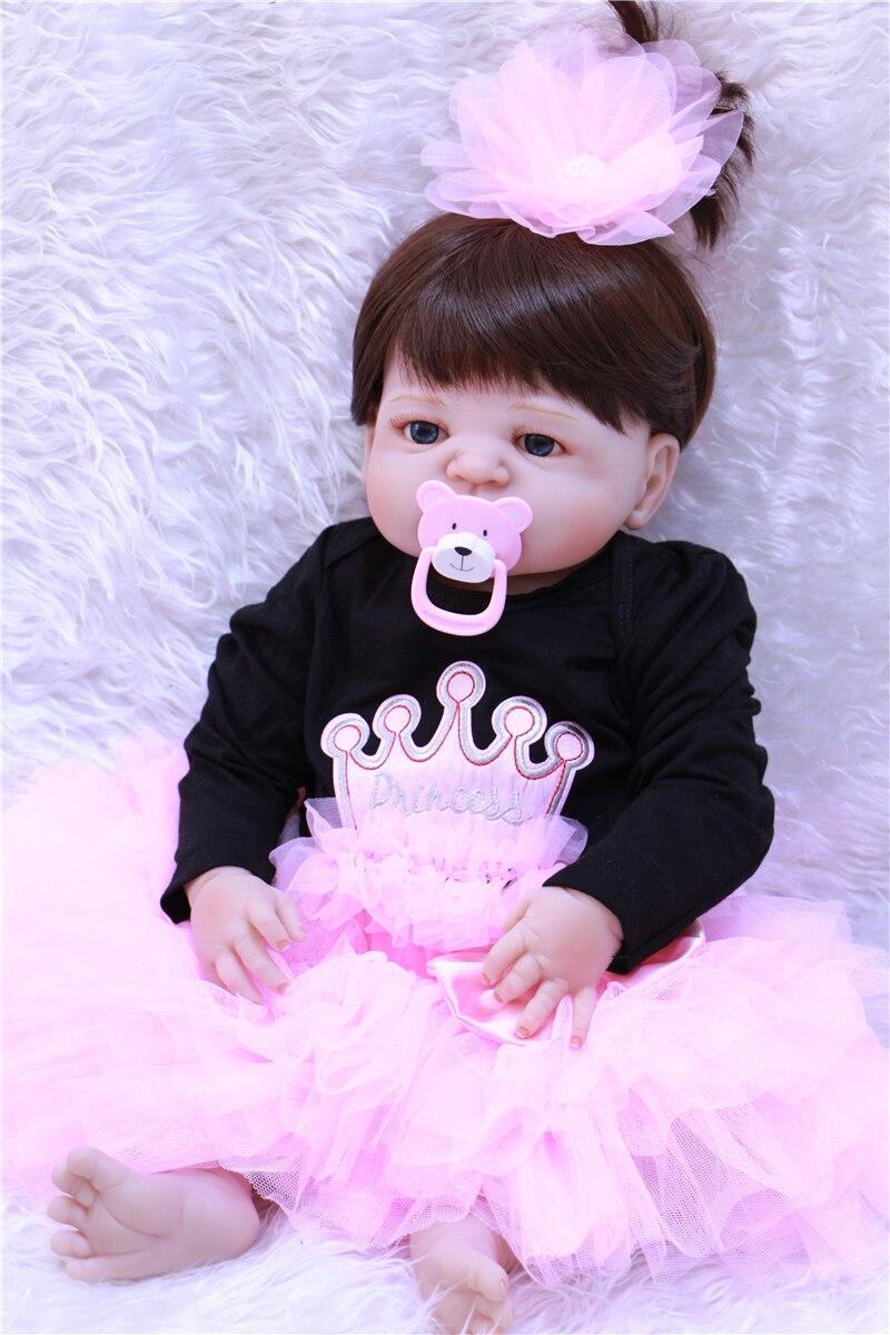 Bebe Reborn Babies Doll Silicone Vinyl Reborn Baby Dolls Lifelike Bebe Juguetes Babies Toys