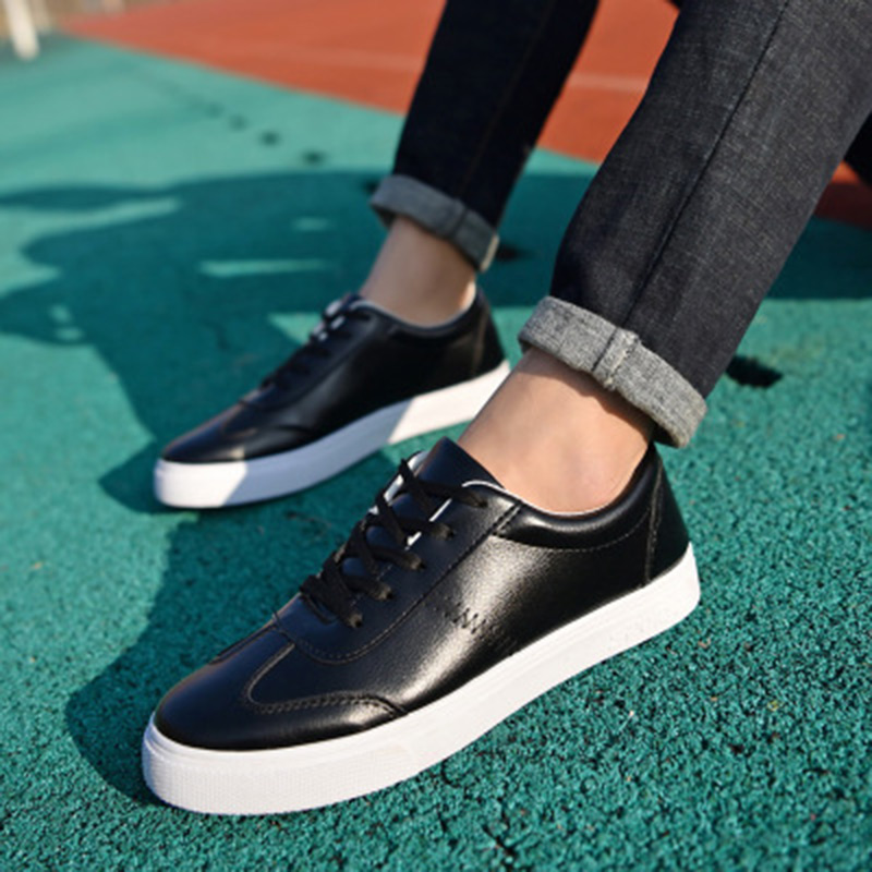 New 2018 Men Casual Shoes PU Leather Summer Breathable Holes Luxury Brand Flat sneaker Shoes for Men Drop Shipping цена