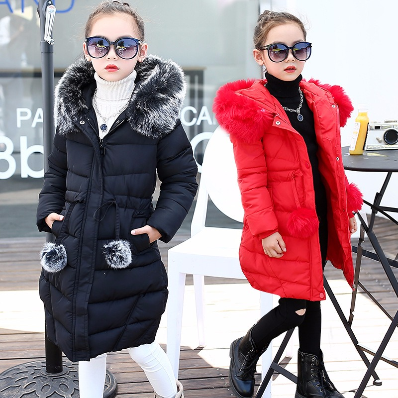 Children Girl Jacket Winter Down Parkas Long Sleeve Toddler Girl Jackets Winter Thick Warm Cotton Windbreaker Coat Girls Clothes 2017 fashion boy winter down jackets children coats warm baby cotton parkas kids outerwears for