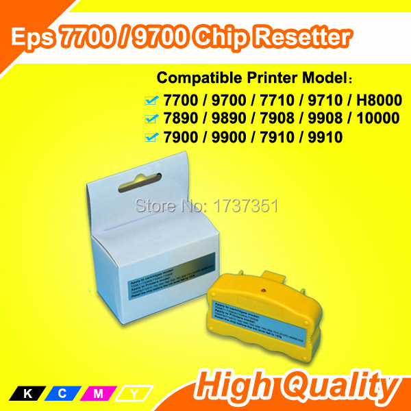 refill ink cartridge Chip Resetter For Epson 7890 9890 7700 9700 7710 9710 7908 9908 7900 9900 H8000 10000 excellent 700ml refill ink cartridge for epson stylus 9890 large format printer with chip resetter