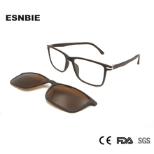 Ultem Square Frame Men Polarized Magnet Clip Glasses Sun For Women Super Lightweight Rectangle Optical