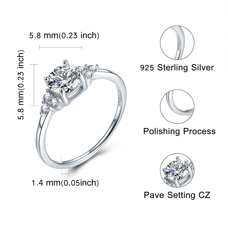 StrollGirl High Quality 100 925 Sterling Silver Princess Square clear CZ Finger Rings for Women Wedding Engagement Jewelry in Engagement Rings from Jewelry Accessories