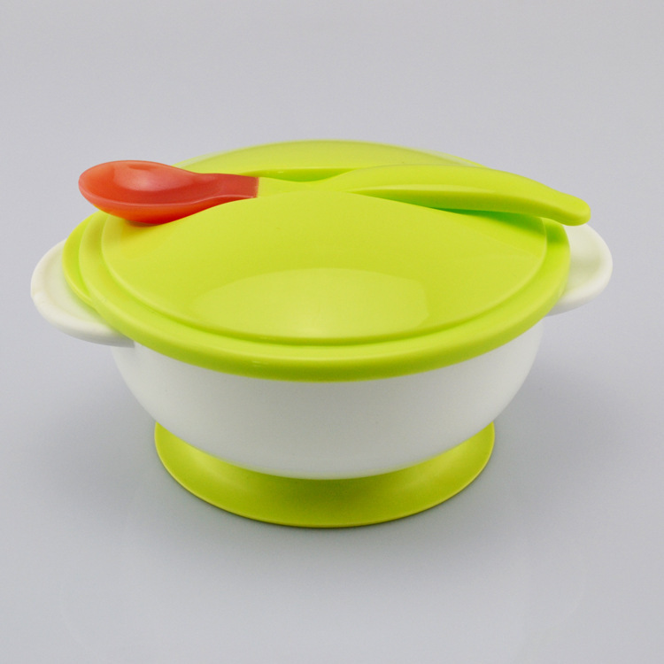 2015 New Boy Girl Kid 360 Rotate Spill-proof Bowl Dishes Tableware Baby Snack Bowl Food Container Feeding Children With Spoon