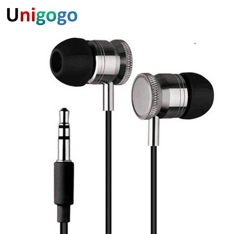 Handsfree Metal Earphone 3.5mm In Ear Wired Ear Phones Headphones With Mic Earbuds Headset For xiaomi iphone Phone MP3 player