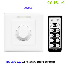 BC-320-CC Knob style led Constant Current PWM LED switch 350mA/700mA single channel dimmer controller for light DC12-48V