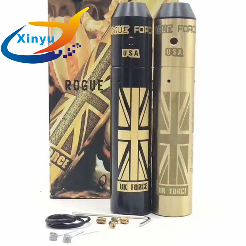 HOT klassischen Rogue Mod Kit 18650 batterie 24mm messing Körper Batterie Mechanische Mod Verdampfer Mod Für 510 gewinde DIY RBA vs sob mod