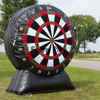 High quality Inflatable Soccer Dart Game Inflatable Golf Foot Dart Board For Outdoor Activity kick goal