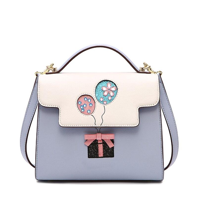 Aotian 2019 nowa torba kobiet fashioncasual torby wysokiej jakości na co dzień torebka na ramię niebieski torba na drobiazgi kobiet w Torebki na ramię od Bagaże i torby na  Grupa 1