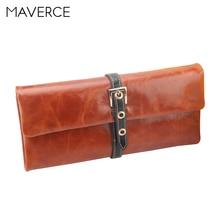 Купить с кэшбэком 2 Color Retro Hasp Women Wallets Women's Purse Long Simple and stylish Ladies Wallet Oil wax  Leather Card Holder
