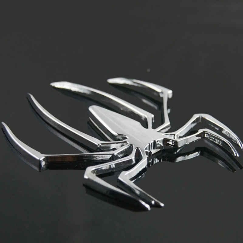 3D รถสติกเกอร์โลหะ Universal Spider รูปร่าง Emblem Chrome 3D รถบรรทุกรถยนต์สติ๊กเกอร์รูปลอกใหม่ร้อนขาย