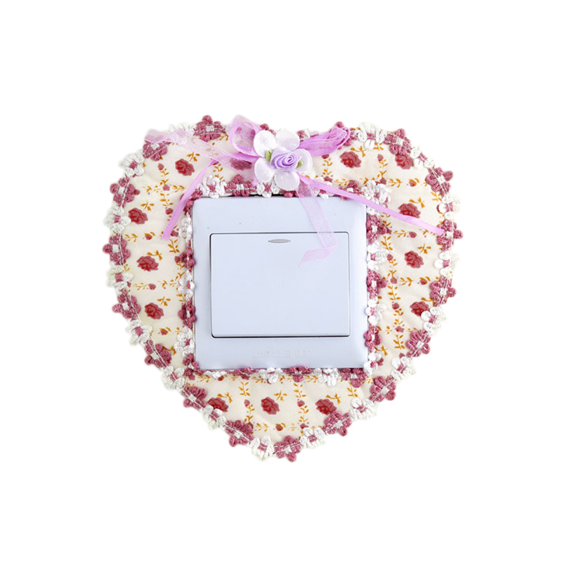 RUBIHOME Fashion Cutout Socket Wall Stickers Switch Cover Rose Flower