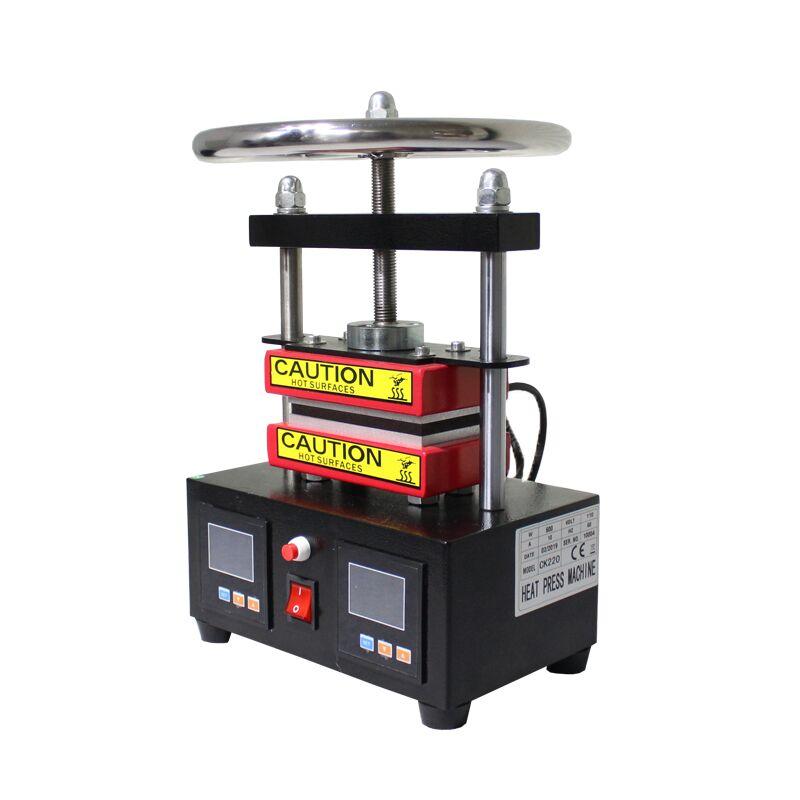무료 배송 조절 압력 로진 프레스 유압 열 프레스 기계 듀얼 가열 플레이트 오일 추출기 ck220-에서부각기부터 홈 & 가든 의  그룹 3