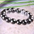 "Free Shipping Fashion Jewelry Stretch Black 12MM Magnetic Hematite Healing Bracelet 8"" 1Pcs H391"