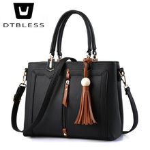 Здесь можно купить  DTBLESS 2018 Fashion New Women Leather Handbags Tassel Shoulder Bags Good Quality Crossbody Messenger Bag Casual Tote D8111-1