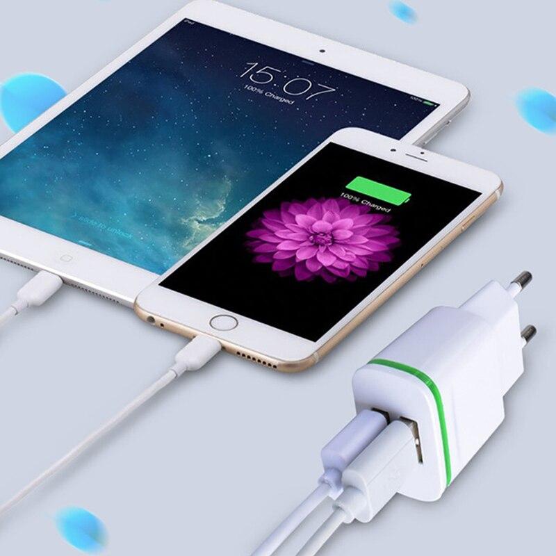5V 2.1A Smart Travel Dual 2 USB Charger Adapter Wall Portable EU Plug Mobile Phone for Philips Xenium I908 V387 W6610 i999 i966