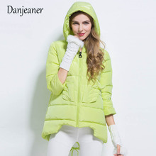 Danjeaner 2018 New Parkas basic jackets Female Women Winter Plus Thick Coats Cotton Jacket Womens Outwear Clothes