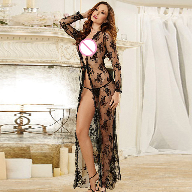 3cad876c29c Plus Size Lingerie Sexy Langerie Hot Transparent nuisette Lace Dress Sleepwear  Babydoll For Women 5XL robe femme sleepwear