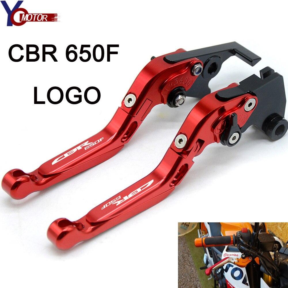 Pour HONDA CBR650F CBR 650F CBR 650 F 2014 2015 2016 1991-2007 accessoires de moto leviers d'embrayage de frein pliables réglables