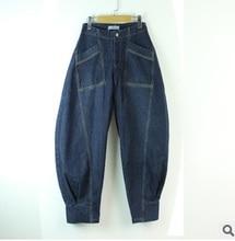 Выпуск продукта в весной 2016 года, оригинальный дизайн свободные большой ярдов досуг женщины cowboy широкого покроя штаны