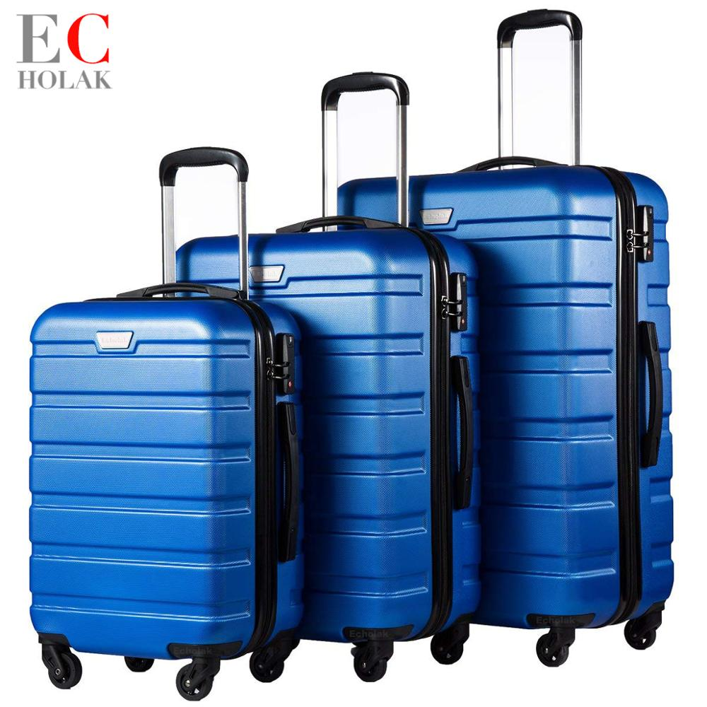 3 Piece Set Family suit Rolling Luggage with Lock Spinner Lightweight High Strength Carry On Suitcase
