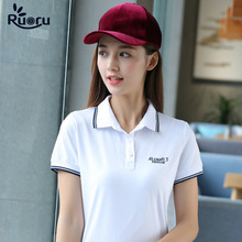 M-6XL Solid Polo Shirt Ladies Brand Clothing Casual Slim Women Polos Summer Work Femme White Gray Clothes Girls