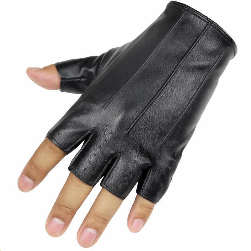 Longo Goleiro Homens Luvas Sem Dedos de Pulso Luvas de Fitness Metade Dedo de Luva Para Festa Show de Dança Adulto Luva Sem Dedos Luvas Masculinos